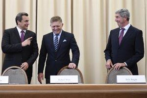 11. september 2017.Koaliční lídri Béla Bugár, Robert Fico a Andrej Danko podpísali dodatok ku koaličnej zmluve.
