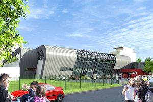 V rámci rekonštrukcie sa zvýši kapacita haly, plocha ihriska avybudujú sa nové tribúny.