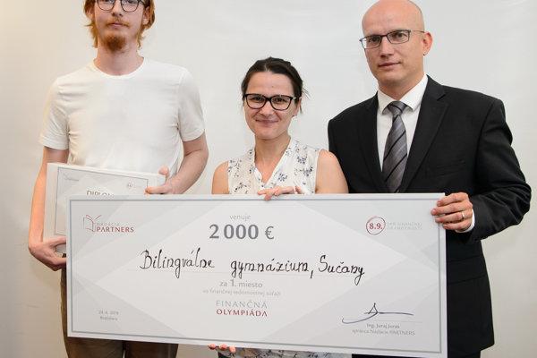 Víťaz súťaže Martin Kňaze (vľavo).