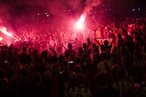 Fanúšikovia Atletica Madrid.