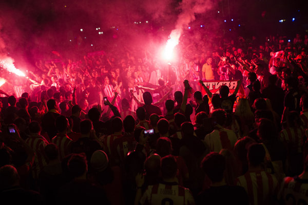 Fanúšikovia Atletica Madrid - ilustračná fotografia.