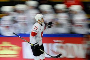 Gólová radosť hokejistov Švajčiarska.