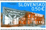 Elektrárňa Piešťany je na 50 centovej známke.