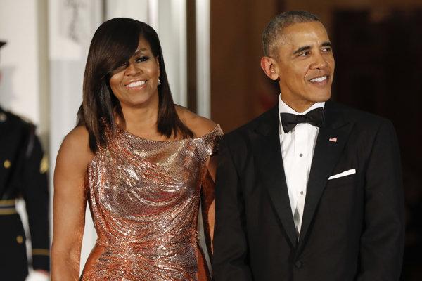 Michelle Obamová a jej manžel bývalý americký prezident Barack Obama.