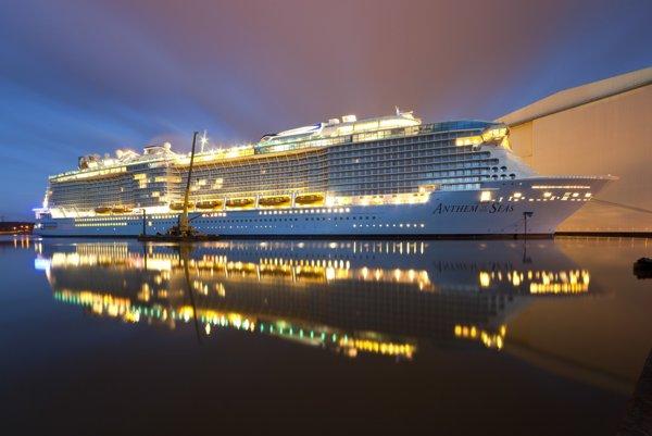 Anthem of the Seas je treťou najväčšou loďou svojej triedy na svete.