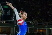 Slovenská gymnastka Barbora Mokošová.