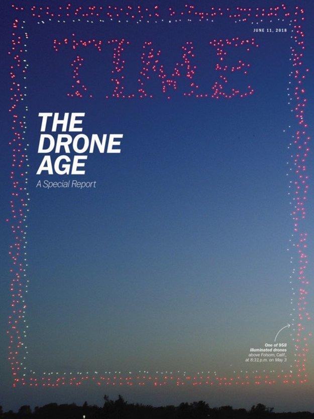 Špeciálna titulka magazínu TIME k číslu o dronoch.
