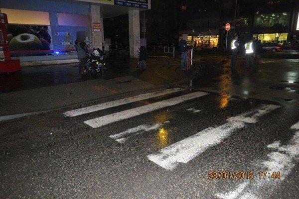 K nehode došlo v centre mesta.