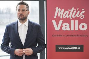 Matúš Vallo, kandidát na primátora Bratislavy.