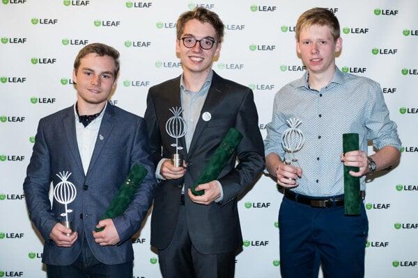 Zľava: Filip Geib, Emanuel Kucbel a Peter Škripko.
