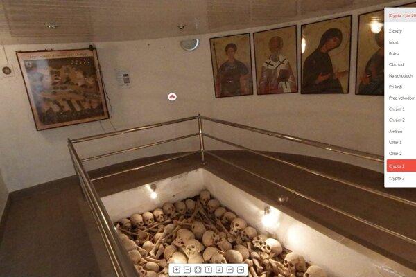 Po krypte a chráme sa dá prejsť aj virtuálne.