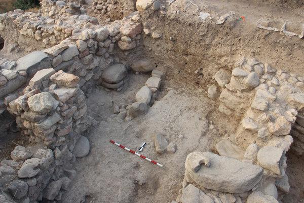 Vykopávky v ruinách mesta Abel-Bet-Maácha.
