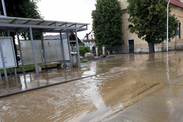 Po búrke v Huncovciach, okres Kežmarok.