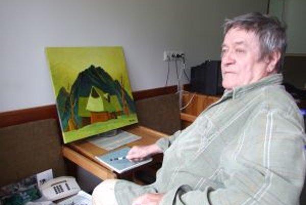 Predseda Umeleckej besedy Slovenska Zdeno Horecký. Chce s maliarmi vytvoriť dostatok obrazov pre pripravovanú galériu v Terchovej.
