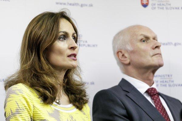 Ministerka zdravotníctva SR Andrea Kalavská a prezident Slovenskej lekárskej komry Marian Kollár.