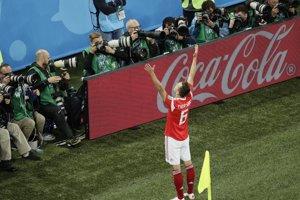 Denis Čeryšev je spolu s Cristianom Ronaldom najlepším strelcom turnaja. Dal tri góly.