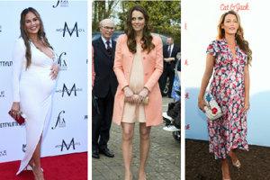 Chrissy Teigen, Kate Middleton a Blake Lively počas tehotenstva