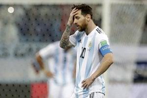 Sklamaný Lionel Messi.