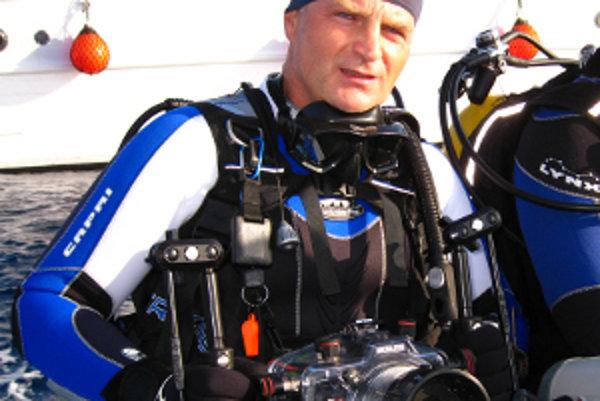 Vášnivý podmorský fotograf Eduard Hladký.