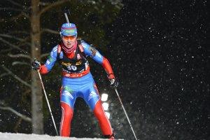 Ruská biatlonistkaJekaterina Glazyrinová.