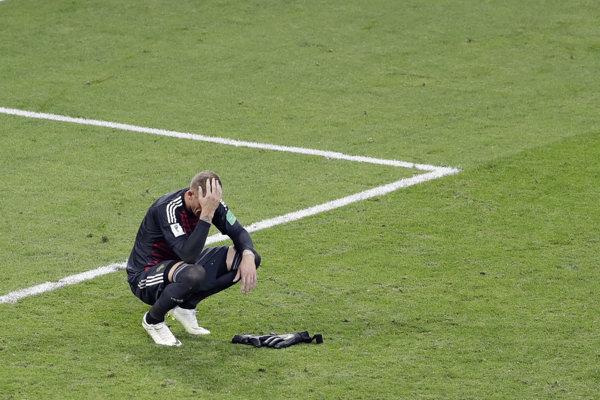 Záver zápasu Nemecko - Švédsko sprevádzali silné emócie.