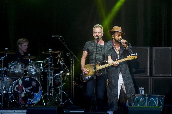 Sting a Shaggy na bratislavskom hrade.