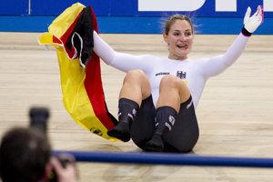 Olympijská víťazka v dráhovej cyklistike Kristina Vogelová.