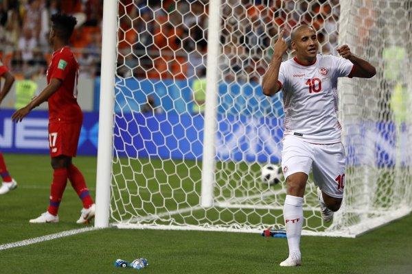 Tunisan Wahbi Khazri sa raduje zo svojho gólu.