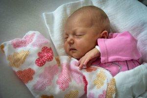 Adela Mocková (3300 g, 52 cm) sa narodila 25. júna Monike a Vlastislavovi z Myjavy.