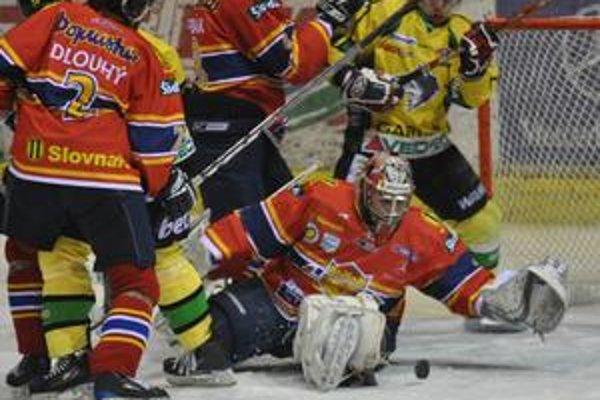 Ján Laco v bráne Zvolena musel riešiť niekoľko gólových situácií, inkasoval iba z jednej.