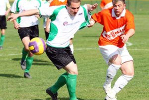Momentka zo zápasu IV. ligy, skupiny Sever, Kotrčiná Lúčka - Stráňavy.