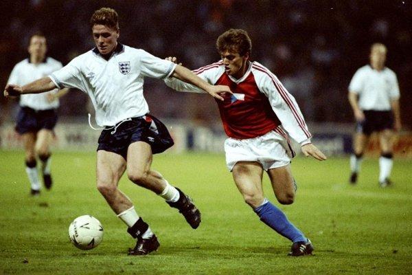 Ľubomír Moravčík vo štvrťfinále MS 1990 proti Západnému Nemecku.