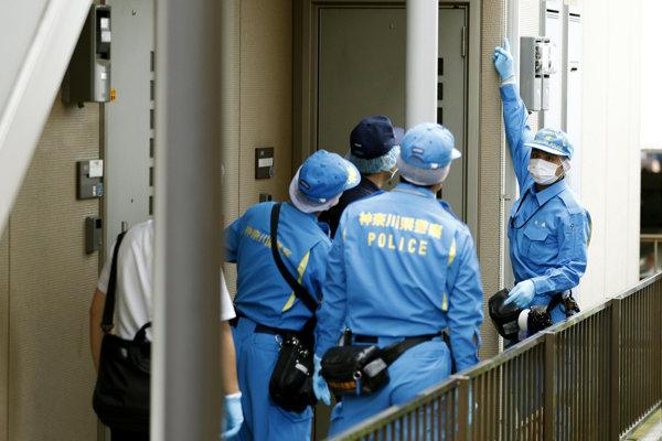 Polícia prehľadala byt v Jokohame.