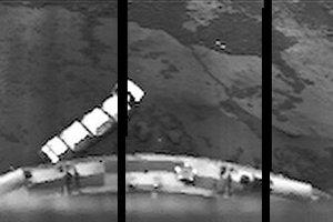 Povrch Venuše zo sondy Venera 10 z roku 1975. Fungovala 65 minút.