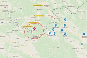 Na mapke môžete vidieť epicentrum a lokality, v ktorých ľudia pocítili účinky.