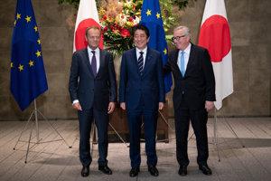 Japonsko a EÚ podpísali dohodu o voľnom obchode.