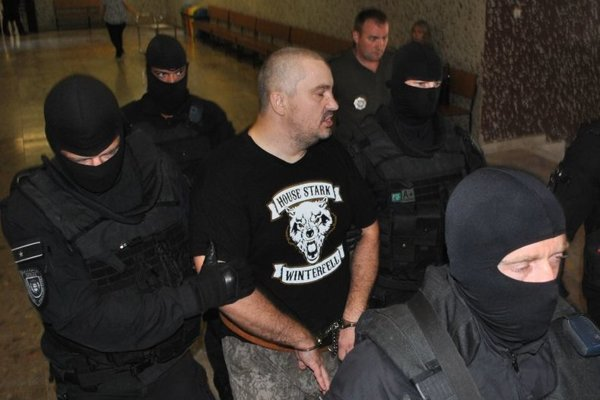 Vladimír G. na súde pri rozhodovaní o vzatí do predbežnej väzby.