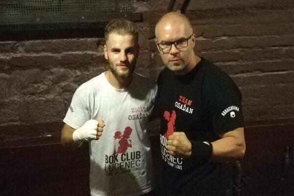 Zsolt Osaďan (vľavo) a tréner Štefan Bohinský.