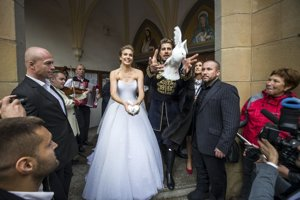 Katka a Peter na svadbe.