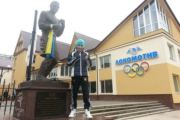 Alex Triebeľ boxoval na Ukrajine
