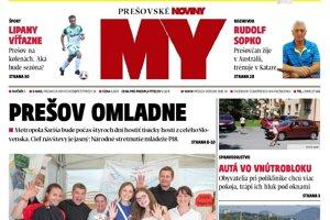 Nové číslo týždenníka MY Prešovské noviny.