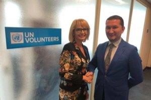 S Toilym Kurbanovom sa stretla Renála Lenártová na pôde OSN v New Yorku k téme Košice – Európske hlavné mesto dobrovoľníctva 2019.