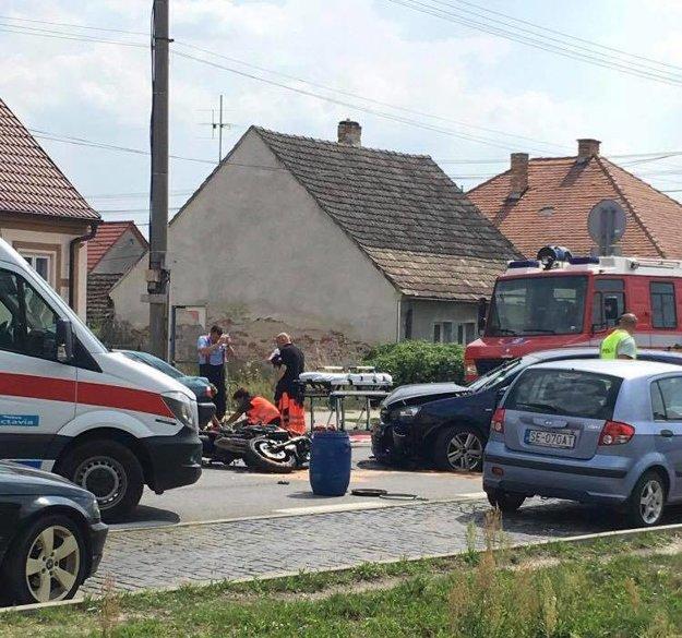 Nehoda v Kútoch.