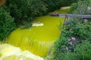 Začiatkom júla mal Leštinský potok žltozelenú farbu.