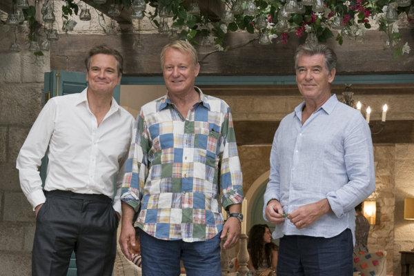 Colin Firth, Stallan Skarsgard a Pierce Brosnan.