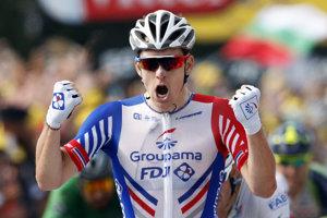 Arnaud Démare sa raduje z víťazstva v 18. etape Tour de France 2018.