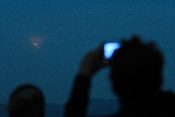Zatmenie mesiaca na Čachtickom hrade.