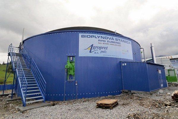 Stanica na výrobu bioplynu z hnoja a hnojovice.