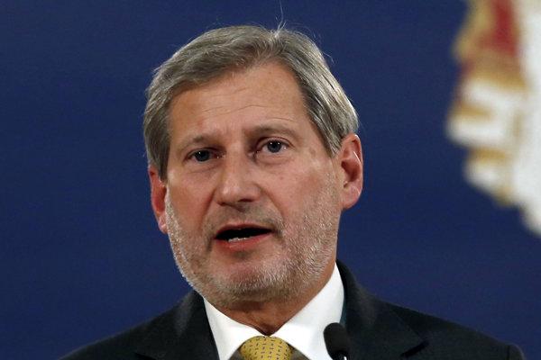 Eurokomisár pre rokovania o rozšírení Johannes Hahn.