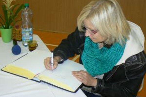 Spisovateľka Gabriela Fútová na Orave.